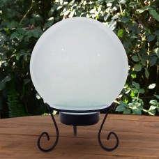 White Gazing Globe with LED Lights