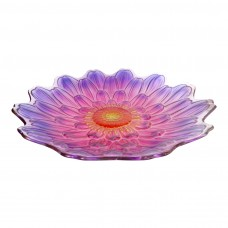 "18"" Purple Flower Birdbath Topper"