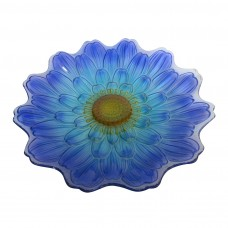 "18"" Blue Flower Birdbath Topper"