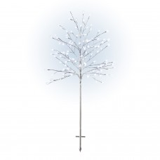 """58"""" Frosty Christmas Snowflake Tree with Cool White LED Lights"""