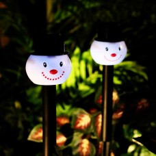 Solar Snowman Mini LED Pathway Light