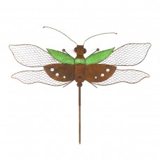 Metal Green Dragonfly Hanging Wall Decor