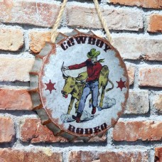 """Cowboy Rodeo"" Bottle Cap Wall Décor"