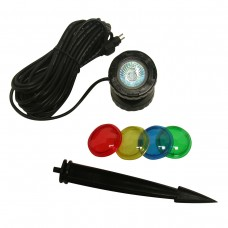 10W Halogen Lights with Garden Stakes & Lenses