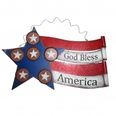 "12"" Tall American Flag ""God Bless America"" Wall Décor"