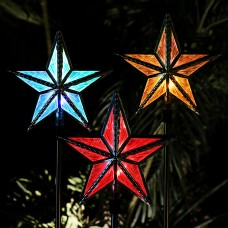"35"" Solar Star Color Changing Garden Stake"