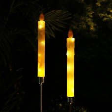 Solar White Candle Stake with Warm White LEDs