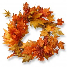 "24"" Wreath with Maple Leaves"