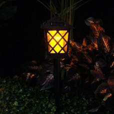 Alpine Solar Flickering Candle Lantern