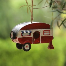 Hanging Red Camper Birdhouse Decor
