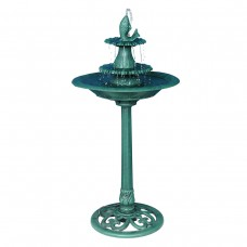 "40"" Tall 2-Tier Floor Fountain w/ Fish"