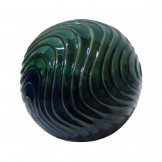 "10"" Greenand Blue waves Ceramic Gazing Globe"