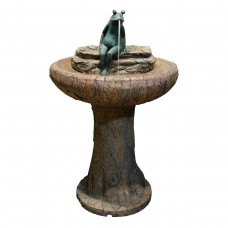 "Alpine 32"" Tall Frog on Fountain"