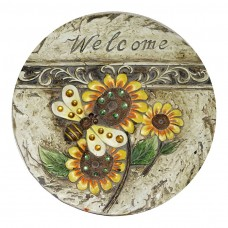 """11"""" Welcome Bee and Sunflower Stepping Stone"""