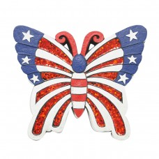 "9"" patriotic Butterfly Stepping Stones Set of 4"