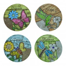 "10"" Inspirational Animal Stepping Stones Set of 4"