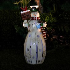 "24"" Metal Snowman Décor with LED Light"