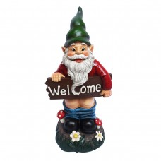 "Mooning ""Welcome"" Gnome with Pants Down Statue"