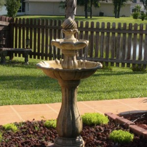 "44"" Tall Arcade Outdoor Floor Fountain in Sandstone Finish"