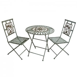 3 Piece Songbird Metal Bistro Set