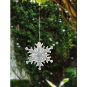 """4"""" Tall Color Changing Hanging Snowflake"""