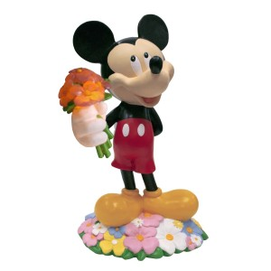 """12"""" Tall Disney's Mickey Mouse with Bouquet Solar Statue"""
