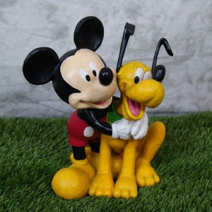 """12"""" tall Disney's Mickey Mouse and Pluto Statue"""