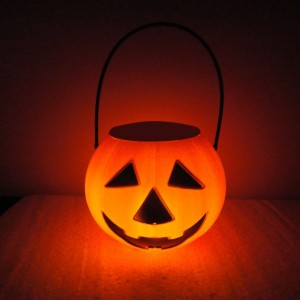 "Alpine 4"" Solar Light Up Pumpkin"