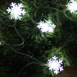 Alpine Snowflake Battery Operated String Lights