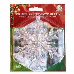 "4"" Color Changing Snowflake Window Decoration"