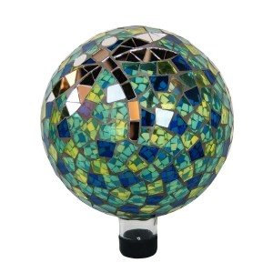 "10"" Mosaic Glass Dragonfly Gazing Globe"