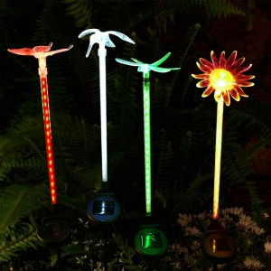 Solar Motion LED Garden Lighted Stake