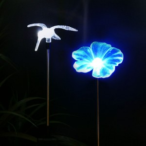 Solar Flower or Hummingbird Garden Stake
