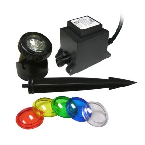 10W Halogen Lights w/ Garden Stakes & Lenses