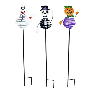 "33"" tall Halloween Metal Bouncing Garden Stakes"