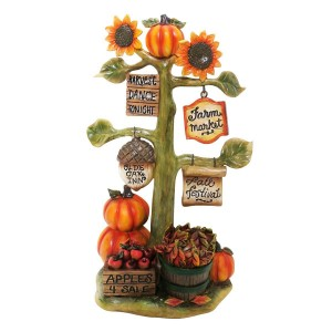 "10"" Alpine Autumn Tree Harvest Decor"