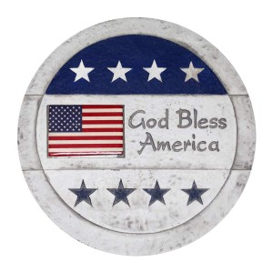 "11"" ""God Bless America"" Stepping Stones Set of 4"