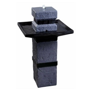"34"" Tall Kenroy Monolith Solar Fountain"