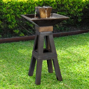 "41"" Tall Kenei Floor Fountain with Copper Bronze Finish"