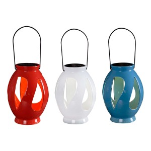 "10"" Tall Kenroy Home Ceramic Solar Lantern"