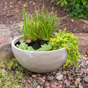 Desert Granite Patio Planter