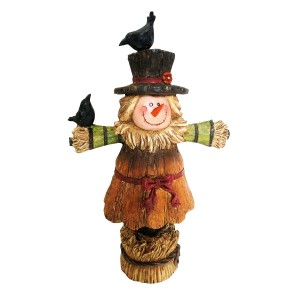 "11"" Scarecrow Girl Statue"