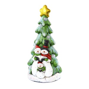 """20"""" Snowman under Christmas Tree with LED"""