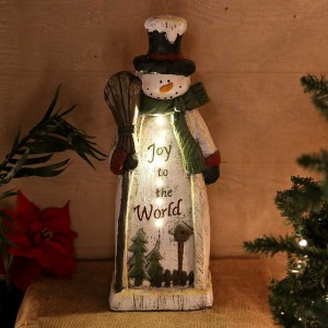 "23"" Christmas Snowman Statue Decor"