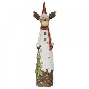 "27"" Deer Statue with Warm White LED Lights"