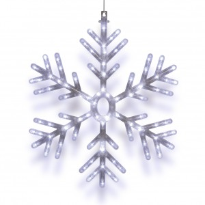 "23"" Hanging Snowflake with 102 LED Lights"