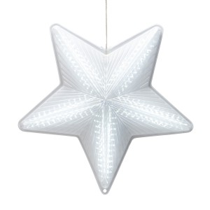 "19"" 3D Star Hanging Decoration w/ 45 LED Lights - 6 Functions"