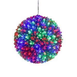 "8"" Flashing Sphere with Multi-Color LED Lights"