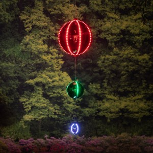 3-Tier Hanging Ornaments with LED Lights