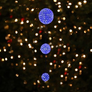 3-Tier Hanging Christmas Ornaments with LED Lights